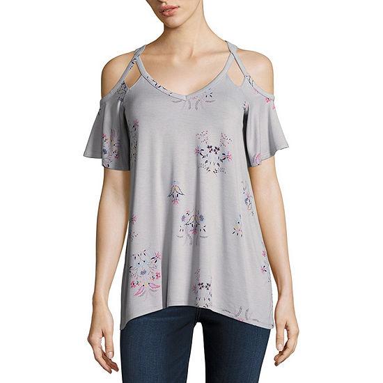 a.n.a-Womens V Neck Short Sleeve T-Shirt
