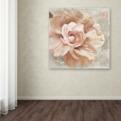 Trademark Fine Art Color Bakery Petals Impasto I Giclee Canvas Art