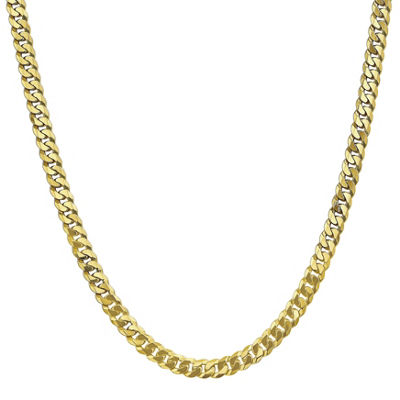 10K Gold 18 Inch Solid Curb Chain Necklace