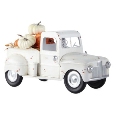 JCPenney Home White Metal Truck Tabletop Decor