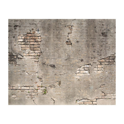 Brewster Wall Broken Concrete Wall Mural Wall Decal