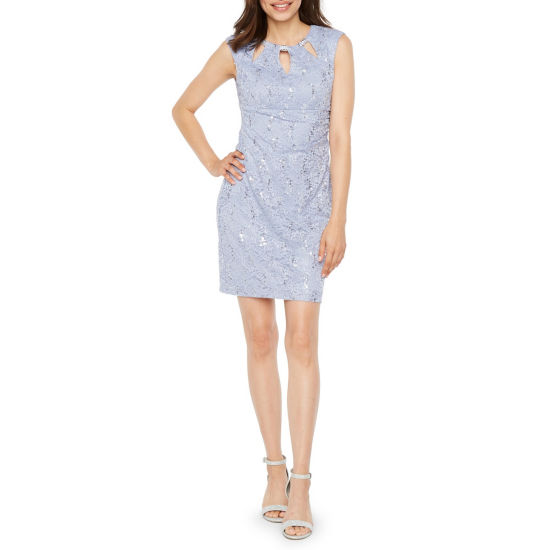 Scarlett Sleeveless Floral Sheath Dress-Petite