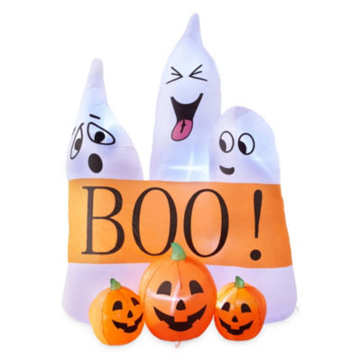 JCPenney Home 6ft Ghosts And Pumpkins Outdoor Inflatable