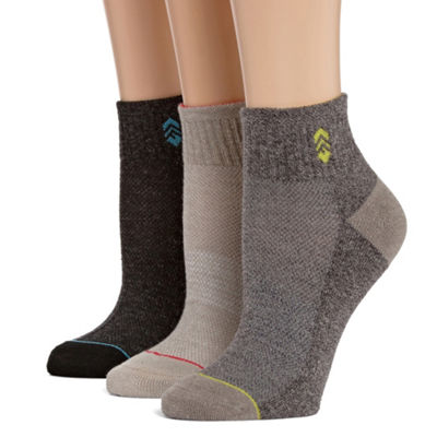 Free Country 3 Pair Quarter Socks - Womens