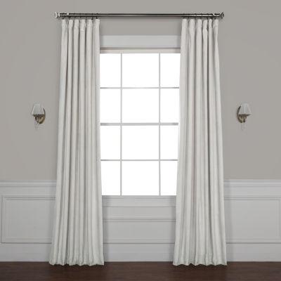 Exclusive Fabrics & Furnishing Heritage Plush Velvet Rod-Pocket/Back-Tab Curtain Panel