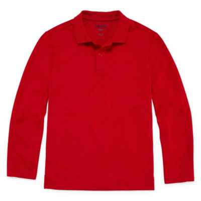 Izod Long Sleeve Performance Polo - Boys 4-20