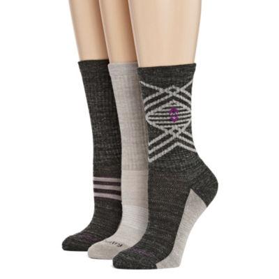 Free Country 3 Pair Crew Socks - Womens