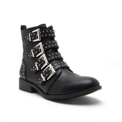 Qupid Womens Vinci 58 Booties Block Heel Zip