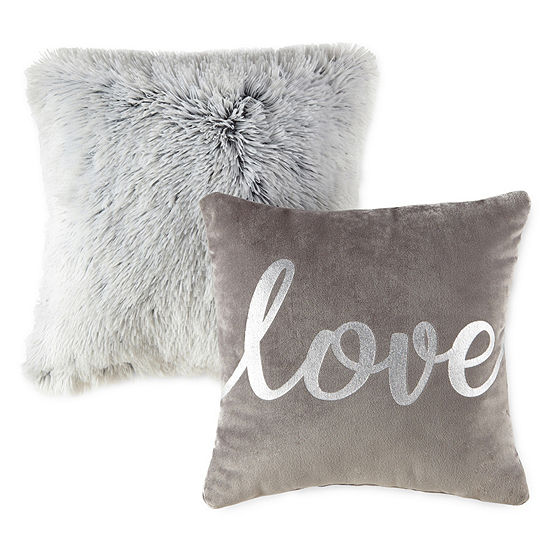 JCPenney Home Love and Gray Rabbit 2 Pack Throw Pillows