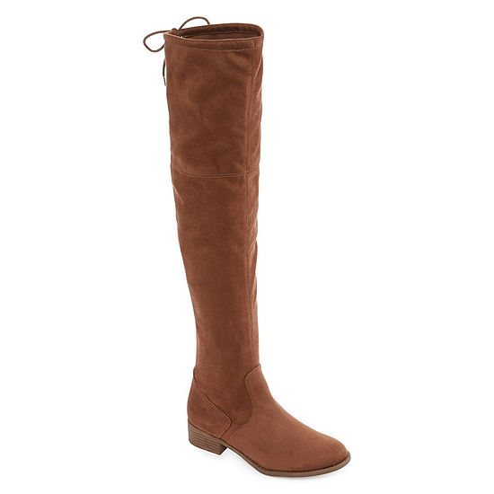 Arizona Womens Palmer Over the Knee Block Heel Pull-on Boots