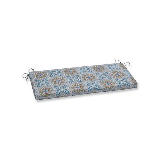 Pillow Perfect Astrid Aqua Patio Bench Cushion
