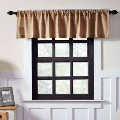 Farmhouse Window Burlap Natural Valance