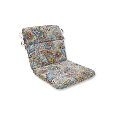 Pillow Perfect Gilford Festival Rounded Corners Patio Chair Cushion