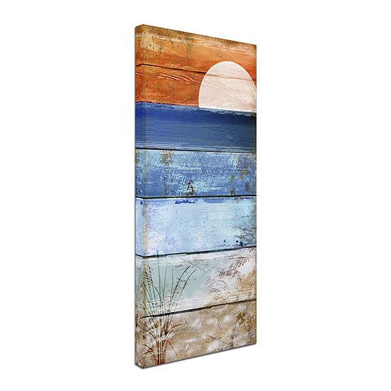 Trademark Fine Art Color Bakery Beach Moonrise Iigiclee Canvas Art