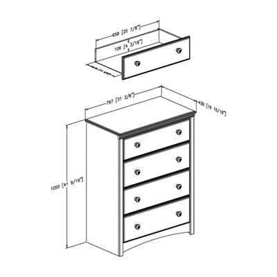 Sweet Morning 4-Drawer Chest
