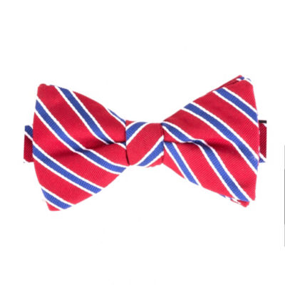 Stafford Fashion Stripe Bow Tie