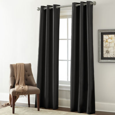 Pacific Coast Textiles 2 Panel Textured Blackout Curtain