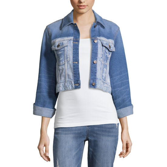Arizona Lightweight Denim Jacket-Juniors