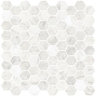 Brewster Wall Hexagon Marble Peel & Stick Backsplash T Wall Decal
