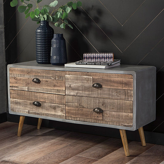 Signature Design by Ashley Camp Ridge 4-Drawer Console Table