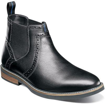 Nunn Bush Mens Chelsea Boots Flat Heel Lace-up