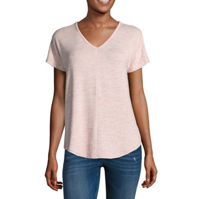 a.n.a Short Sleeve V Neck T-Shirt-Womens