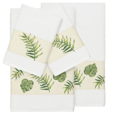 Linum Home Textiles 100% Turkish Cotton Zoe 4PC Embellished Towel Set