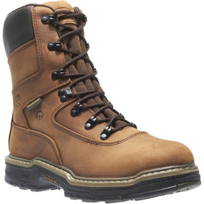 Wolverine Mens Marauder Waterproof Slip Resistant Insulated Work Boots Lace-up