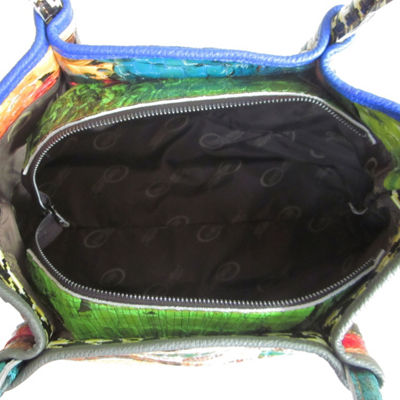 Amerileather Everly Animal Print Rainbow Handbag