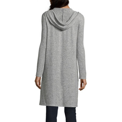 by&by Womens Hooded Neck Long Sleeve Blouse-Juniors