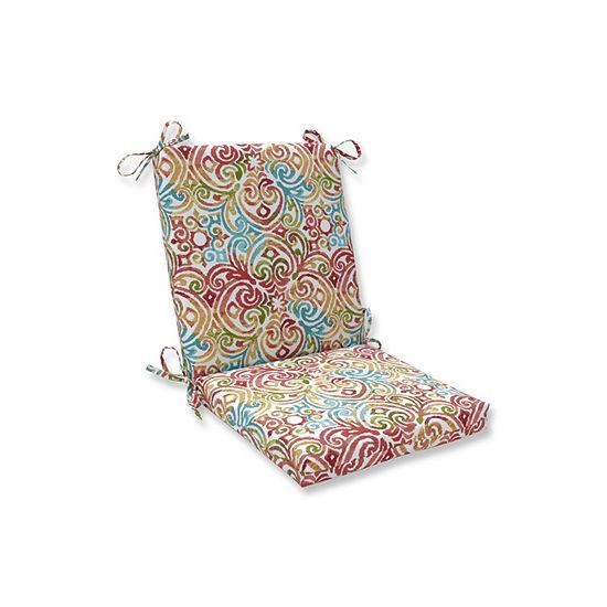 Pillow Perfect Corinthian Dapple Squared Corners Patio Chair Cushion