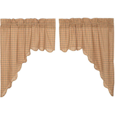 Rustic & Lodge Window Millsboro Scalloped Swag