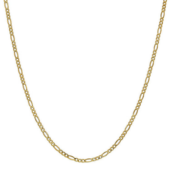 14K Gold 18 Inch Semisolid Figaro Chain Necklace