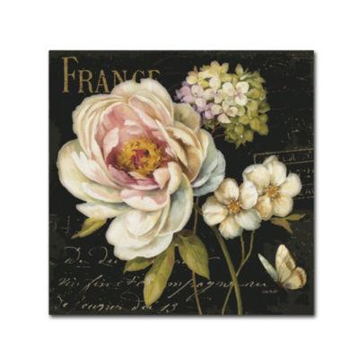 Trademark Fine Art Lisa Audit Marche de Fleurs onBlack Giclee Canvas Art