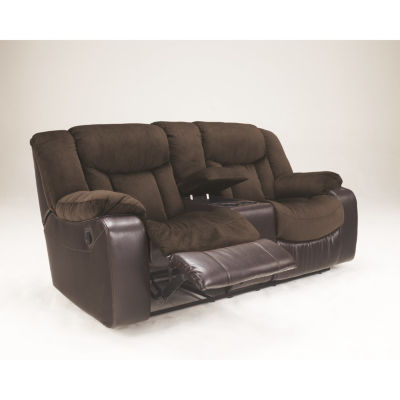 Signature Design By Ashley® Tafton Reclining Loveseat With Console