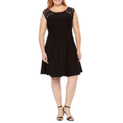 Danny & Nicole Sleeveless Fit & Flare Dress - Plus