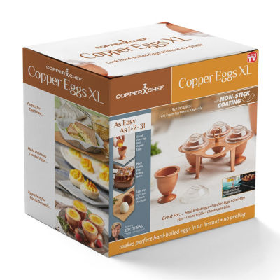 Impulse As Seen On Tv Copper Chef Eggs Set- Xl Egg Cooker