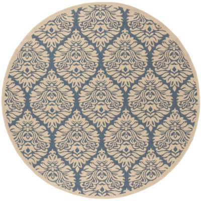 Safavieh Linden Collection Nikola Geometric RoundArea Rug