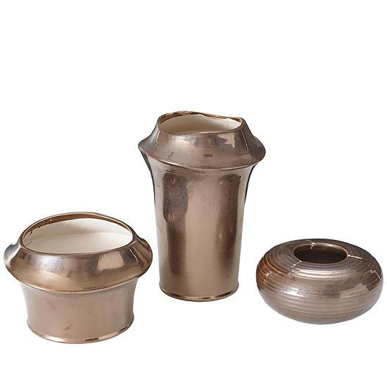 Madison Park Bowery Ceramic Vase Set Of 3