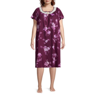 Adonna Knit Short Sleeve Nightgown-Plus