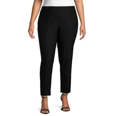 Liz Claiborne Luxe Super Stretch Ankle Pant - Plus