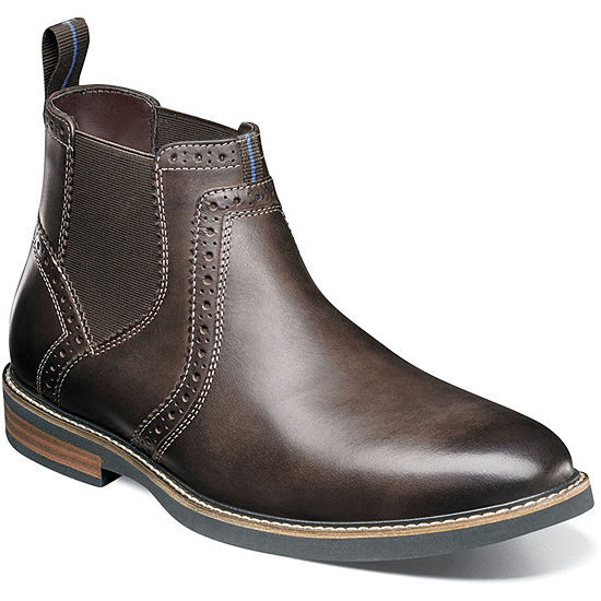 Nunn Bush Mens Otis Flat Heel Pull-on Chelsea Boots