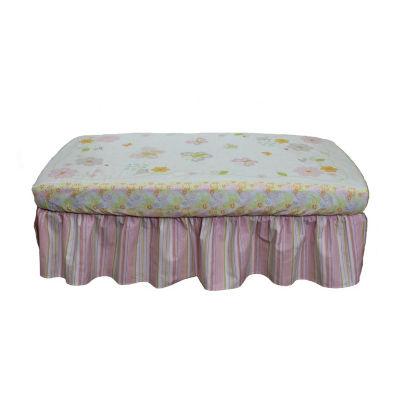 Nurture Pink Stripe Crib Dust Ruffle