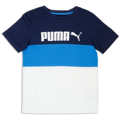 Puma Short Sleeve Crew Neck T-Shirt-Preschool Boys