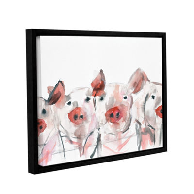 Pigs Floater-Framed Gallery Wrapped Canvas