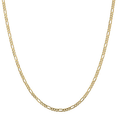 14K Gold Solid Figaro 16 Inch Chain Necklace