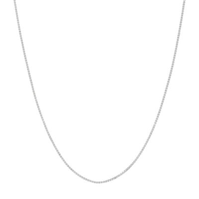 """Made in Italy 14K White Gold .75mm 16-24"""" Box Chain"""