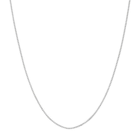 "14K White Gold .75mm 16-24"" Box Chain"