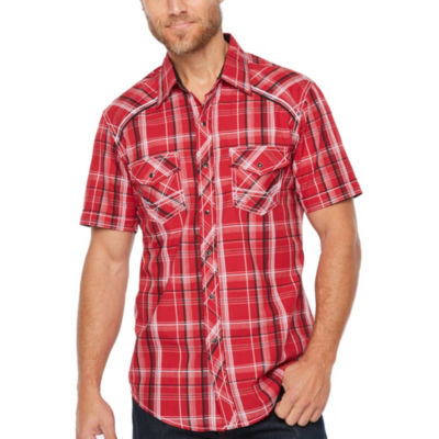 Ely 1878 Short Sleeve Plaid Snap Front Western Shirt