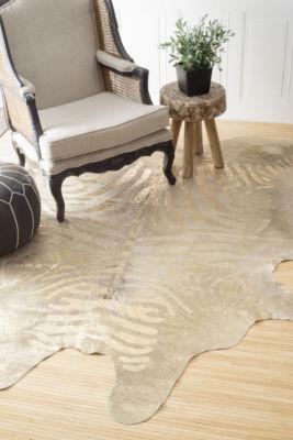 nuLoom Goldie Cowhide Hand Tufted Handmade Area Rug